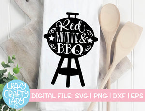 Red, White, & BBQ SVG Cut File