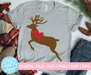 Reindeer with Scarf SVG Cut File