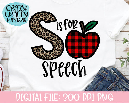 S Is for Speech PNG Printable File
