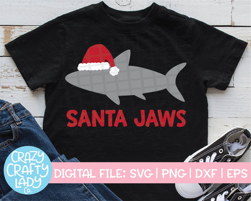 Santa Jaws SVG Cut File