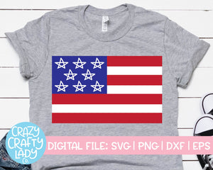 American Flag SVG Cut File