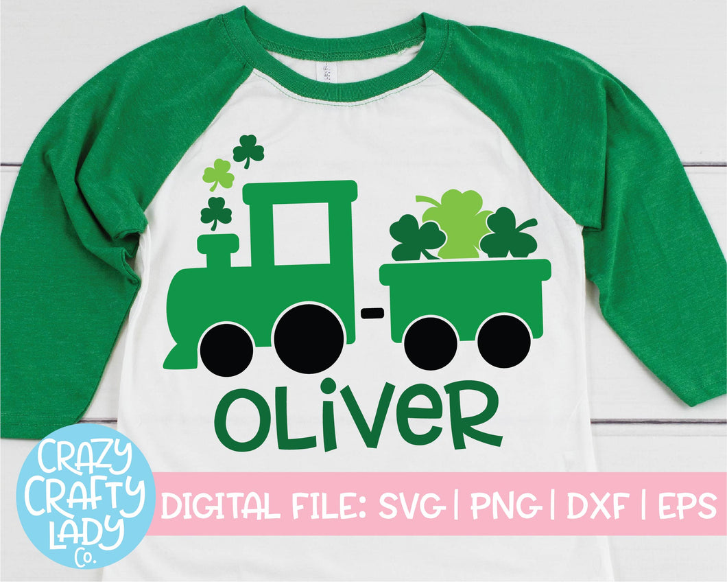 St. Patrick's Day Train SVG Cut File