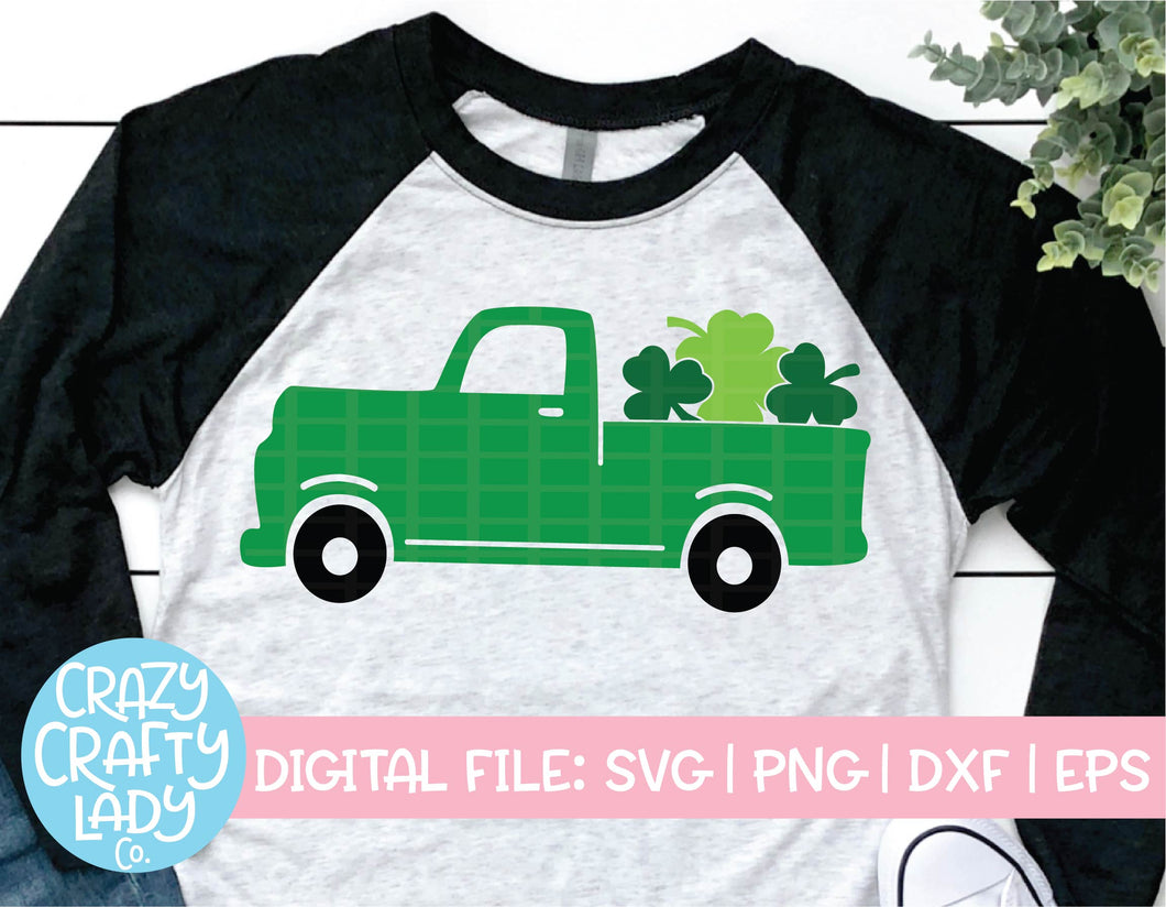 Shamrock Truck SVG Cut File