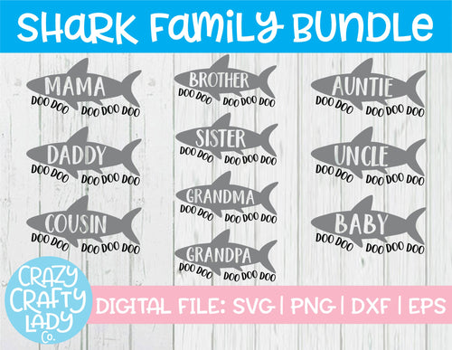 Shark Family SVG Cut File Bundle