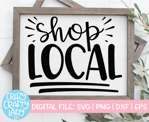 Shop Local SVG Cut File