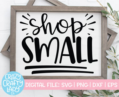 Shop Small SVG Cut File