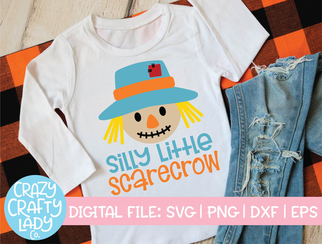 Silly Little Scarecrow SVG Cut File