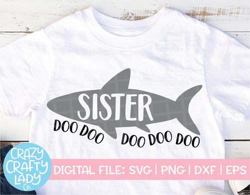 Sister Shark SVG Cut File