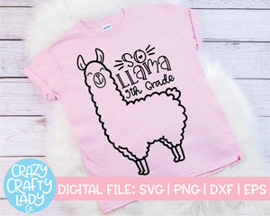So Llama, 5th Grade SVG Cut File
