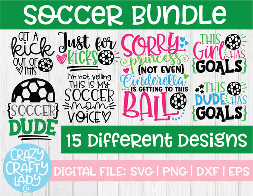 Soccer SVG Cut File Bundle