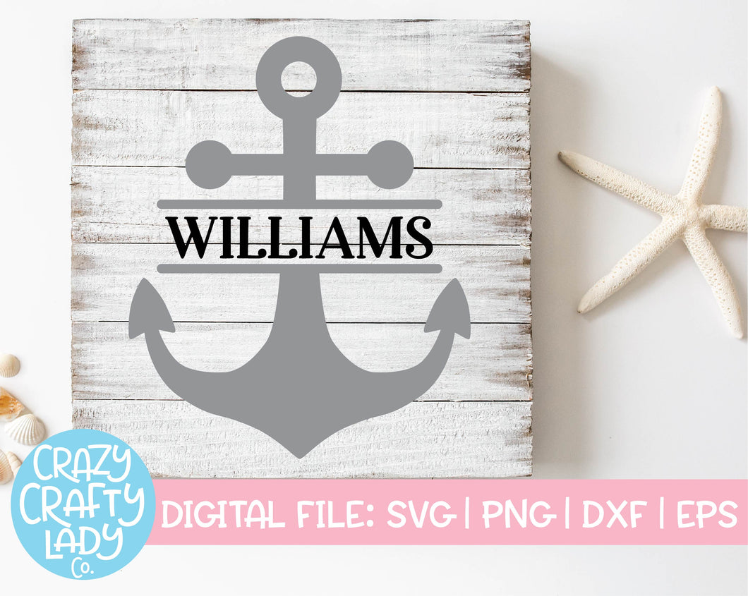 Split Anchor SVG Cut File