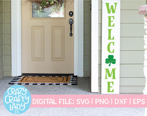 St. Patrick's Day Welcome SVG Cut File