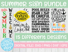 Load image into Gallery viewer, Summer Sign SVG Cut File Bundle