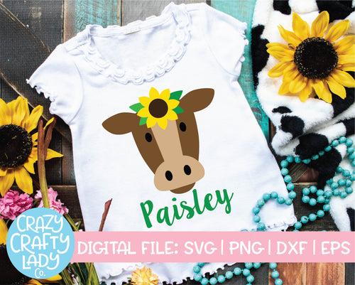Sunflower Cow SVG Cut File