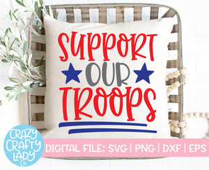 Support Our Troops SVG Cut File