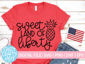Sweet Land of Liberty SVG Cut File