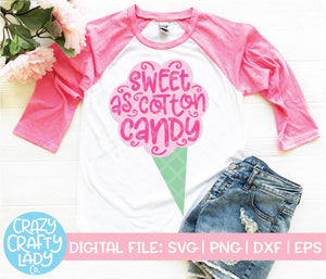 Sweet as Cotton Candy SVG Cut File