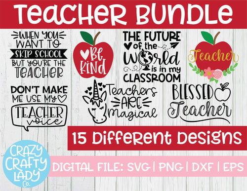 Teacher SVG Cut File Bundle