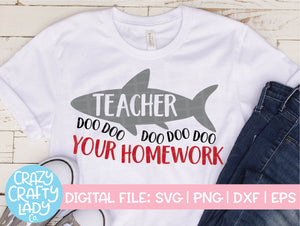 Teacher Shark SVG Cut File