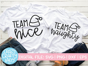 Team Nice and Team Naughty SVG Cut File Bundle