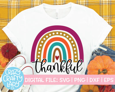 Thankful Rainbow SVG Cut File