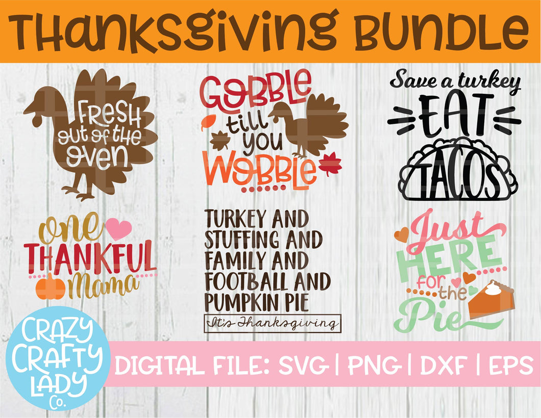 Thanksgiving SVG Cut File Bundle
