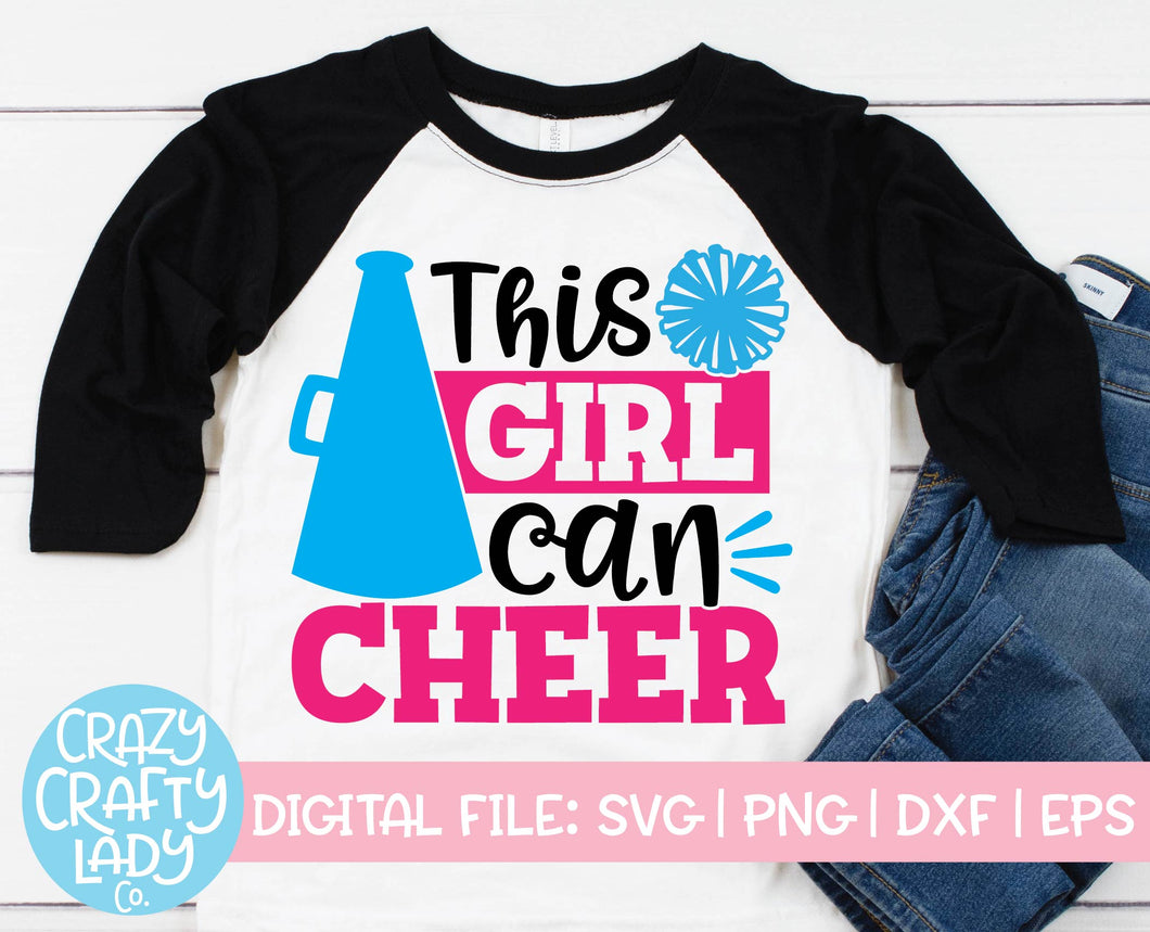 This Girl Can Cheer SVG Cut File