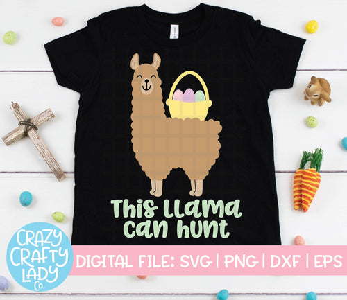 This Llama Can Hunt SVG Cut File