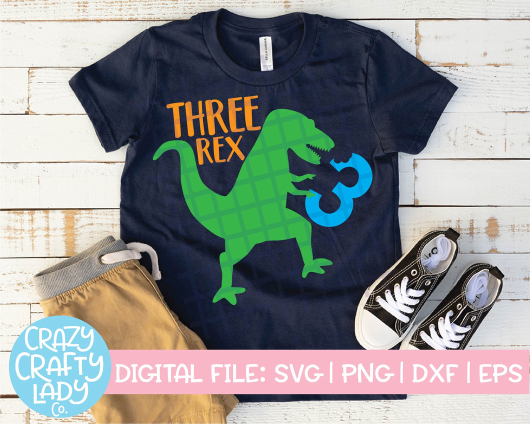Three Rex SVG Cut File