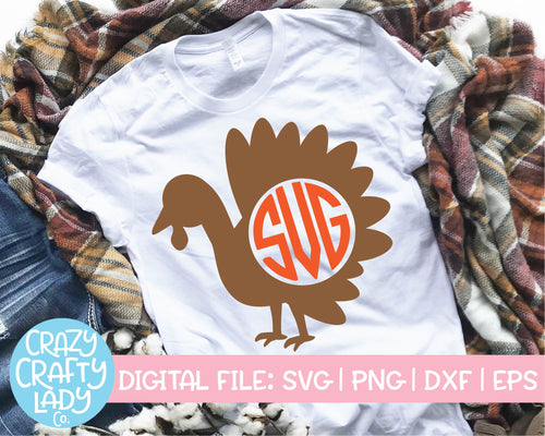 Turkey Monogram Frame SVG Cut File
