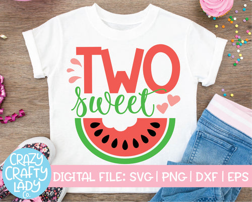 Two Sweet SVG Cut File