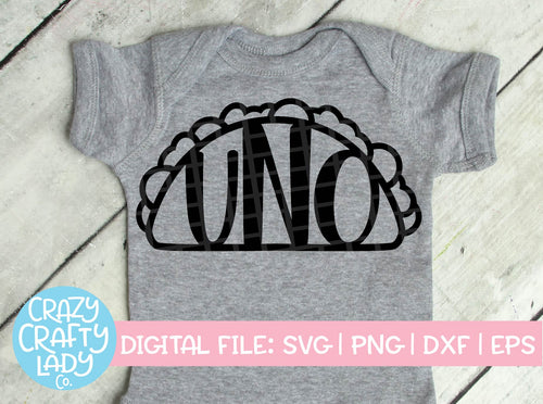Uno Taco SVG Cut File