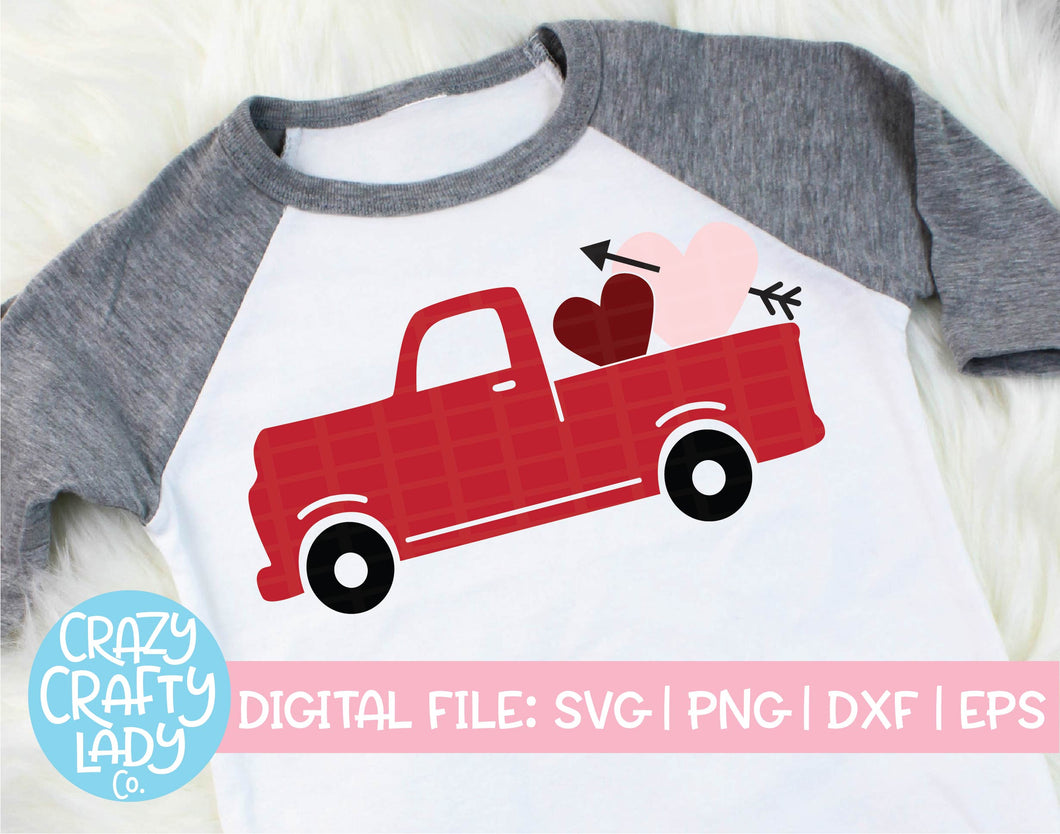 Valentine's Day Truck SVG Cut File