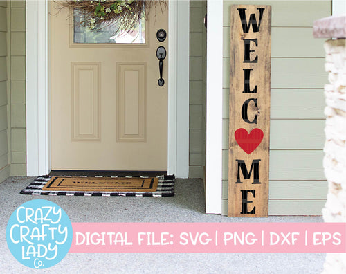 Valentine's Day Welcome SVG Cut File