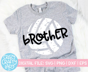 Grunge Volleyball Brother SVG Cut File