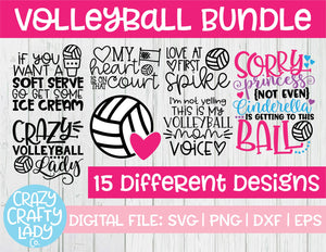 Volleyball SVG Cut File Bundle