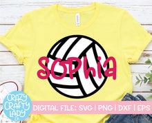 Load image into Gallery viewer, Volleyball SVG Cut File Bundle