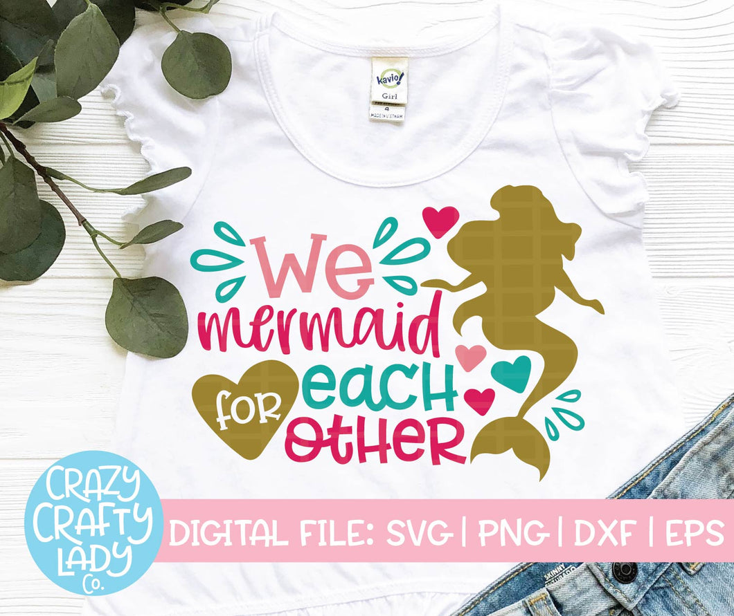 We Mermaid for Each Other SVG Cut File