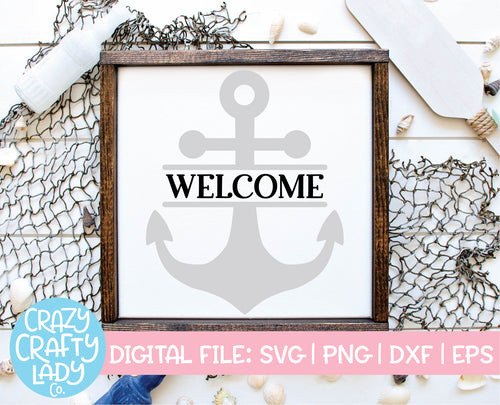 Welcome Anchor SVG Cut File