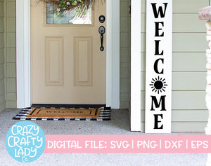 Welcome with Sun SVG Cut File