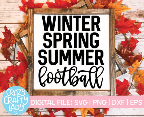 Winter Spring Summer Football SVG Cut File