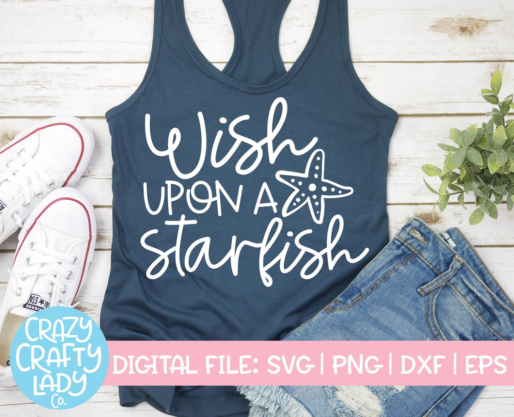 Wish Upon a Starfish SVG Cut File
