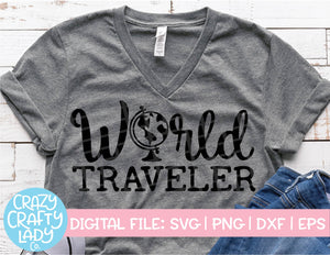 World Traveler SVG Cut File