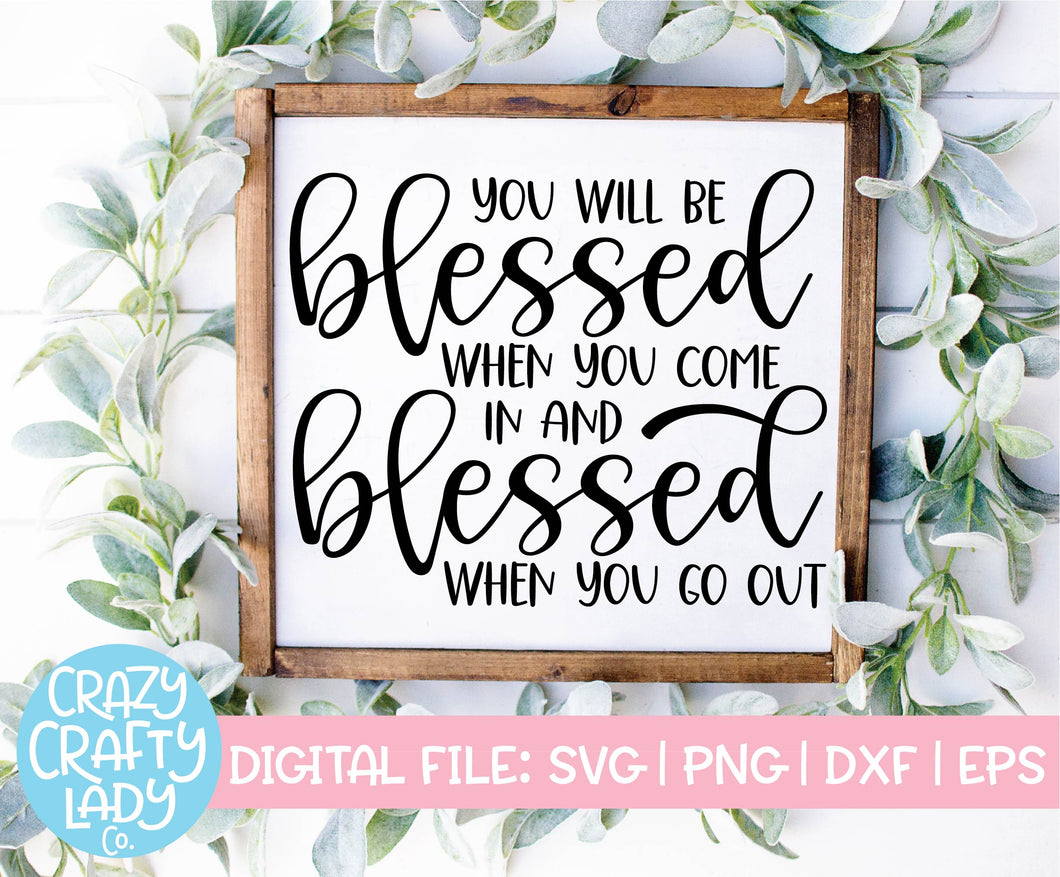 You Will Be Blessed SVG Cut File