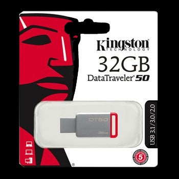 USB 3.1/3.0/2.0 KINGSTON 32GB DATA TRAVELER 50 - iontec.mx