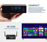 8th Intel Core Mini PC i3 8130U i5 8250U i7 8550U Windows 10 DDR4 Gigabit Ethernet 300M WiFi 8xUSB HDMI VGA 4K HTPC NUC Mini Pc iontec.mx