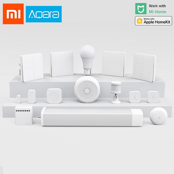 Xiaomi Aqara Smart Home kits Gateway 3 Hub Camera Wall Wireless Switch Door Window Sensor doorbell wireless relay module HomeKit - iontec.mx