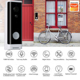Tuya Smart Video Doorbell 1080P WiFi Video Intercom APP Remote Control Wireless Door Bell Camera Alexa Google Home Monitor - iontec.mx