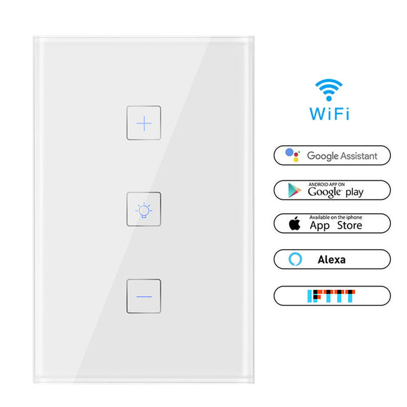 Smart Light Dimmer Pared Control WiFi Interruptor de luz WiFi Trabaja con Alexa Google Assistant IFTTT - iontec.mx
