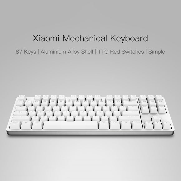 Xiaomi 87 Keys Red Switches Professional Mechanical Gaming Keyboard LED Backlit Backlight USB Wired for PC Laptop Gaming Office - iontec.mx
